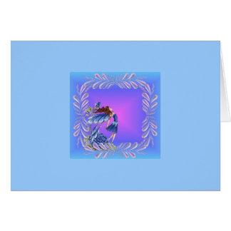 Little blue fairy greeting card