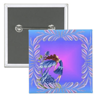 Little blue fairy pin