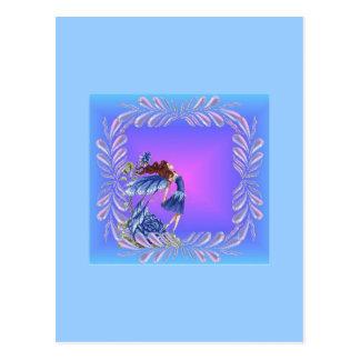 Little blue fairy postcard