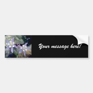 Little blue Flowers Bumper Sticker