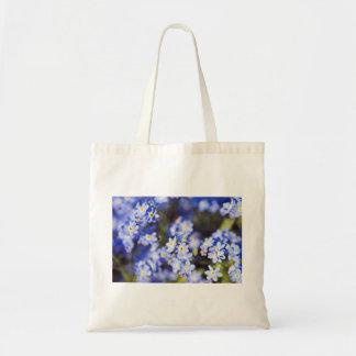Little blue flowers tote bag