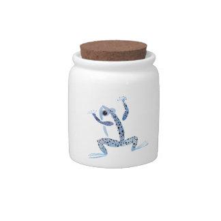 Little Blue Frog Candy Jar