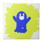 Little blue ghost ceramic tile
