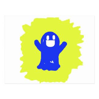 Little blue ghost postcard