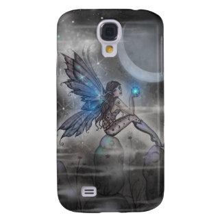 Little Blue Glowing Fairy Fantasy Art Samsung Galaxy S4 Covers