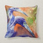 Little Blue Heron Fine Art Pillow