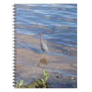 Little Blue Heron Spiral Note Book