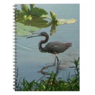 Little Blue Heron Spiral Photo Notebook