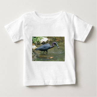 Little Blue Heron With Crayfish Baby T-Shirt