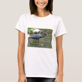 Little Blue Heron With Crayfish T-Shirt
