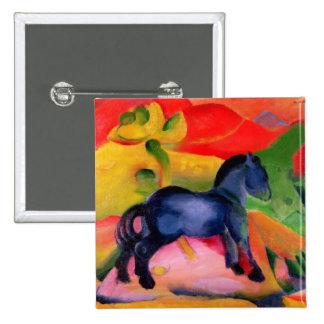 Little Blue Horse, 1912 2 Inch Square Button