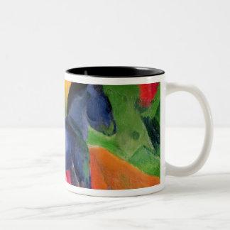 Little Blue Horse, 1912 Two-Tone Coffee Mug