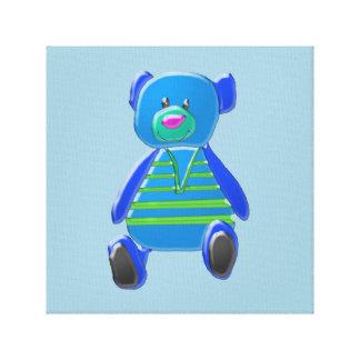 Little Blue Kids' Canvas Print