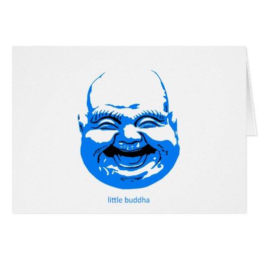 little blue laughing-buddha greeting card