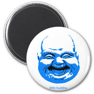 little blue laughing-buddha magnet