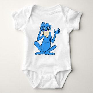 Little Blue Monkey Baby Bodysuit
