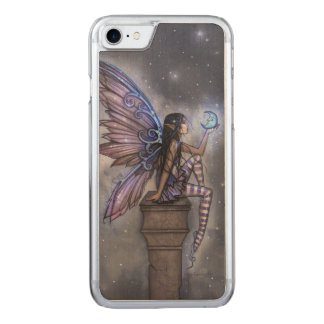 Little Blue Moon Fairy Fantasy Art Carved iPhone 8/7 Case