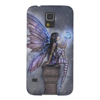 Little Blue Moon Fairy Fantasy Art Galaxy S5 Covers
