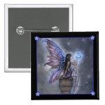 Little Blue Moon Fairy Fantasy Pinback Button