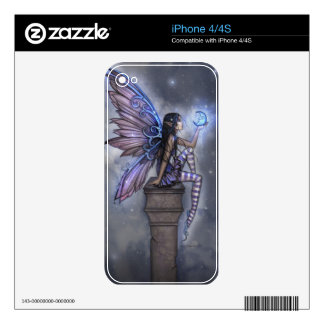 Little Blue Moon Gothic Fairy Fantasy Art Decal For iPhone 4