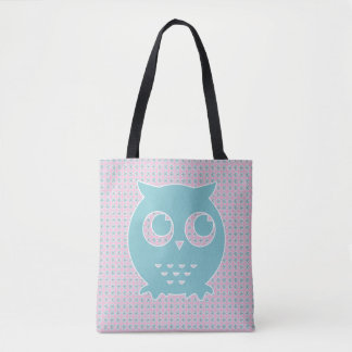 Little Blue Owl All-Over-Print Tote Bag