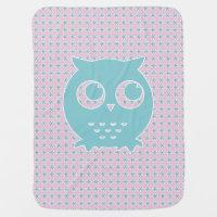 Little Blue Owl Baby Blanket