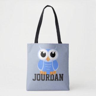 """Little Blue Owl"" Tote Bag"