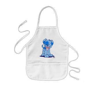 Little blue puppy cooking apron