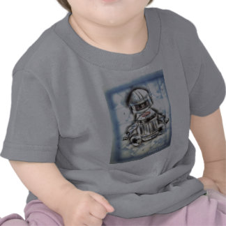 Little Blue Robot Tee Shirts