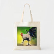 Little Blue Rooster Tote Bag