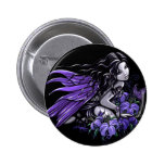"""Little Blue"" Violet Lily Butterfly Fairy Button"