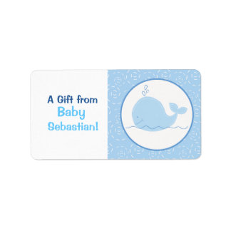 Little Blue Whale Custom Labels / Stickers