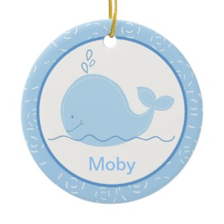 Little Blue Whale Customized Ornament ornament