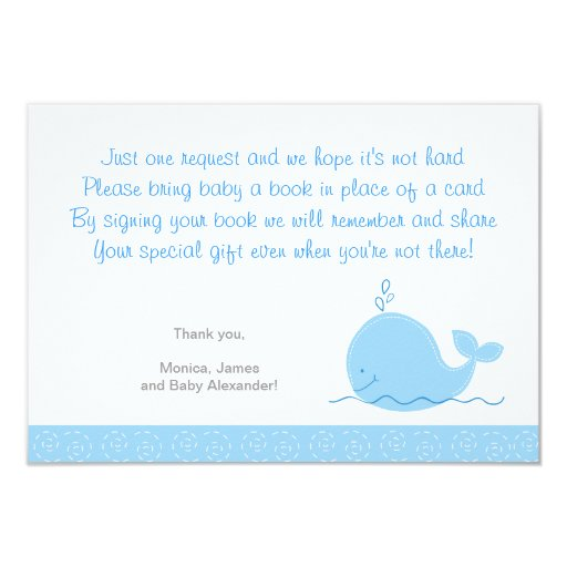 Little Blue Whale Enclosure Cards