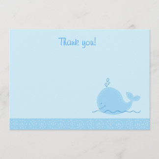 Little Blue Whale Flat Thank You notes