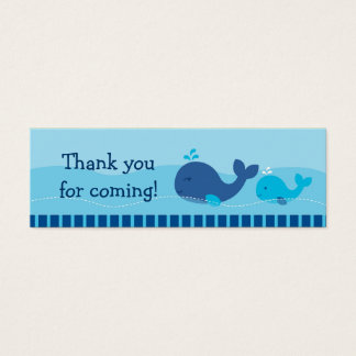 Little Blue Whale Goodie Bag Tags Gift Tags