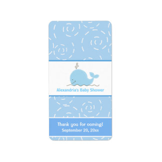 Little Blue Whale Miniature Candy Wrappers Label