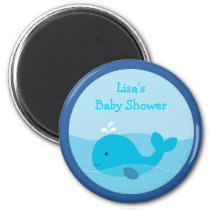 Little Blue Whale Party Favor Magnets