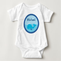 Little Blue Whale Personalized Baby T-Shirt