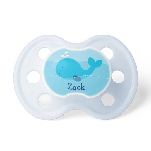 Little Blue Whale Personalized Pacifier