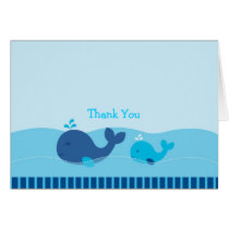 Little Blue Whale Thank You Note Cards