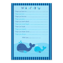 Little Blue Whale Wishes for Baby Advice Cards