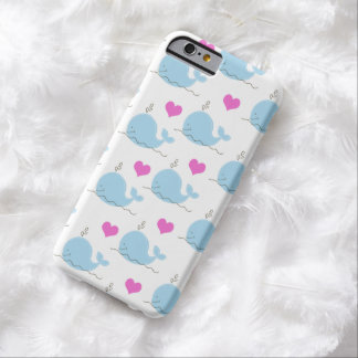 Little Blue Whales and Hearts iPhone 6 Case