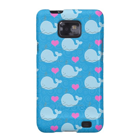 Little Blue Whales Custom Android Case - Blue