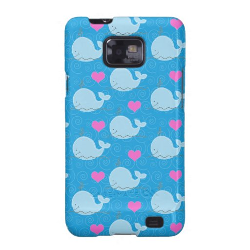 Little Blue Whales Custom Android Case - Blue Galaxy S2 Cover