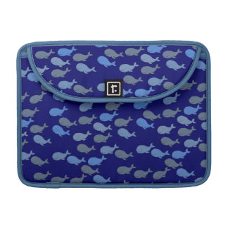 little blue whales patterns sleeve for MacBooks