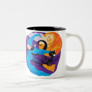 Little Blue Witch Two-Tone Coffee Mug