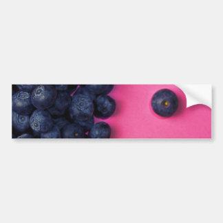 Little Blueberries Happy Pink Background - Fruit P Bumper Sticker