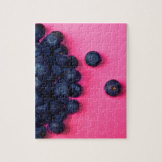 Little Blueberries Happy Pink Background - Fruit P Puzzle