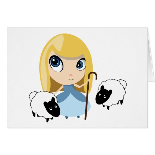 Little Bo Peep and her Sheep Card